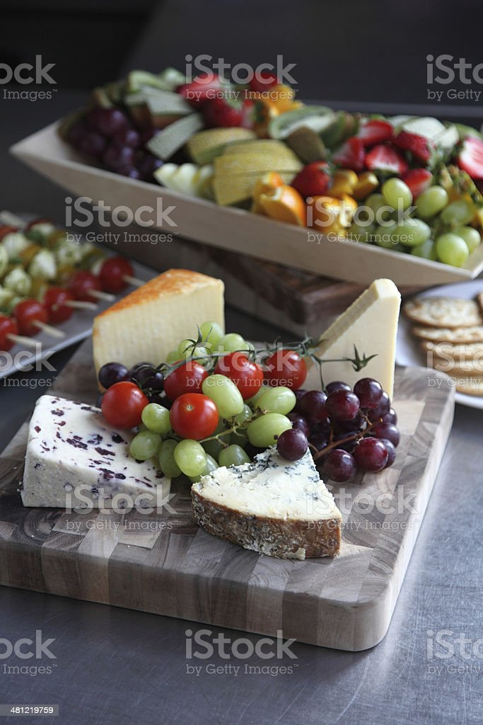 Summer low carb buffet stock photo