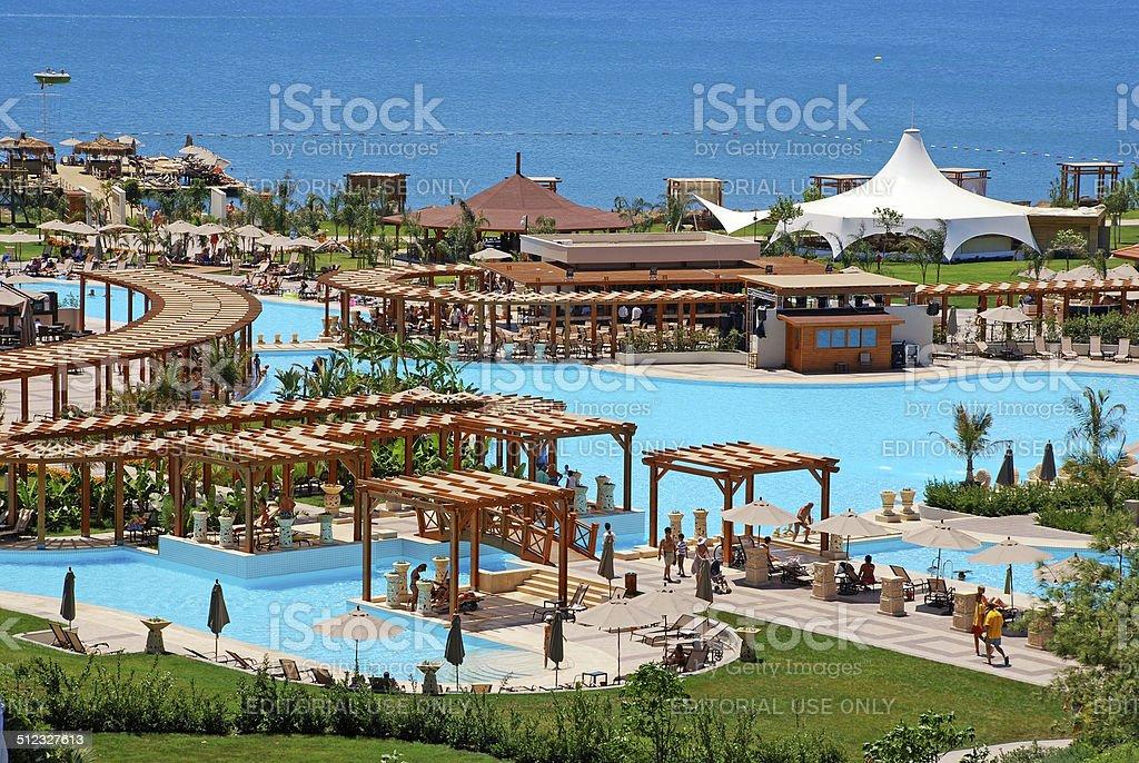 summer luxury resort, Antalya, Turkey stock photo