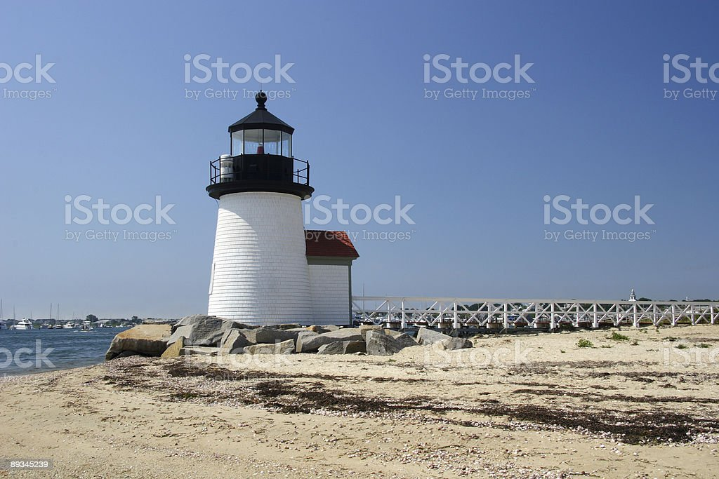 Summer Memories, Brant Point Lighthouse On Nantucket Island royalty-free stock photo
