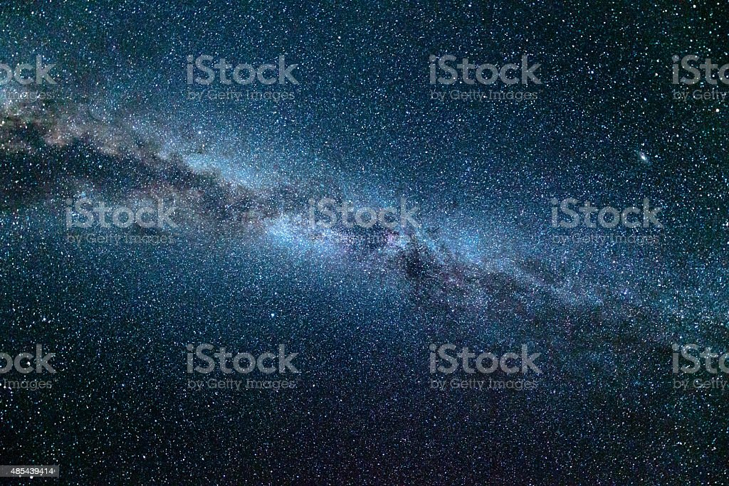 Summer Milky Way, Overhead View stock photo