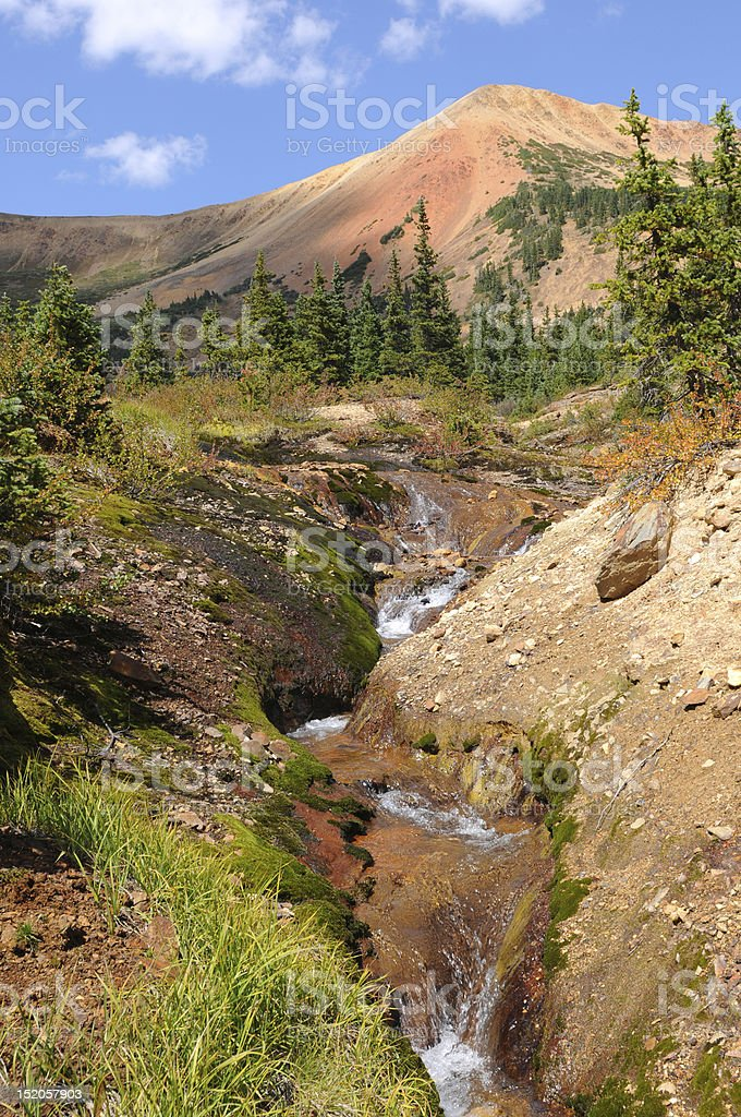 Summer Mountain Creek stock photo