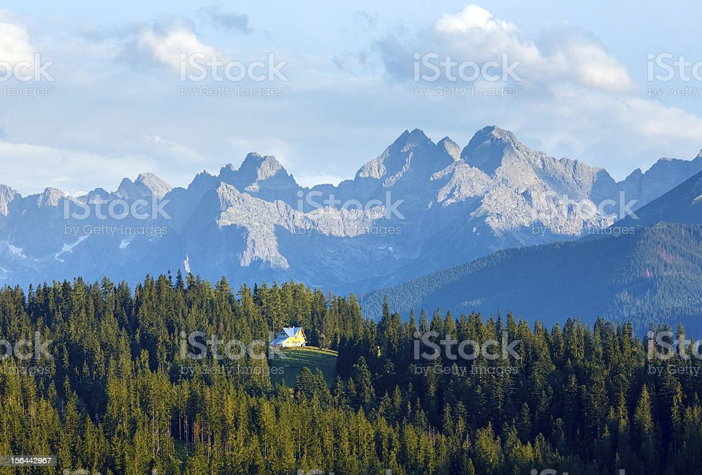 Summer mountain evening country view royalty-free stock photo