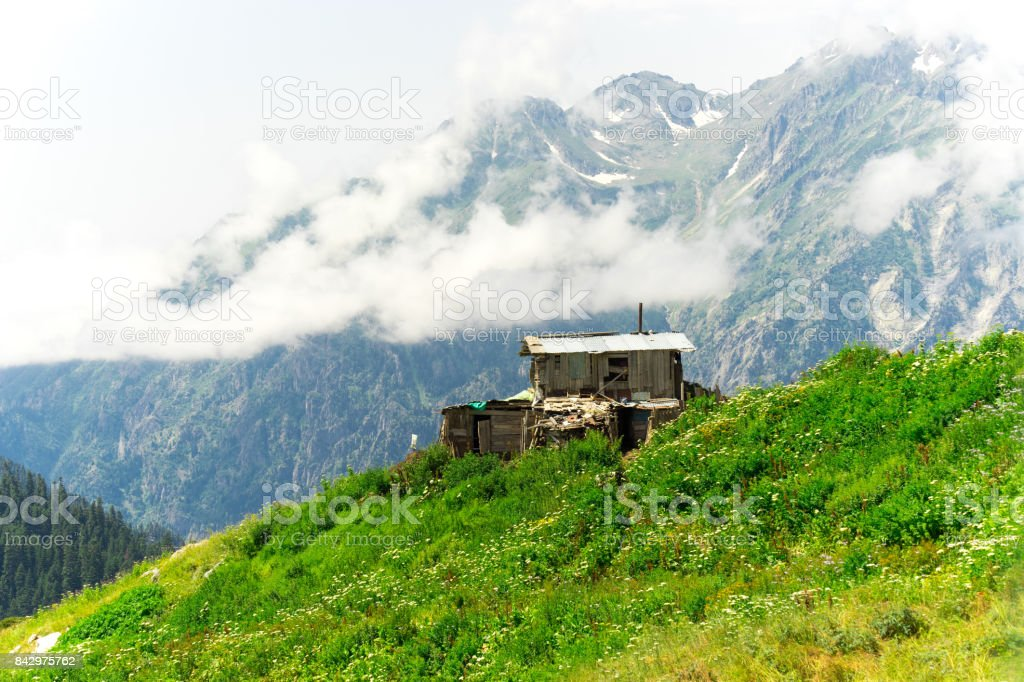 Summer Mountain Plateau Highland with Artvin, Turkey stock photo