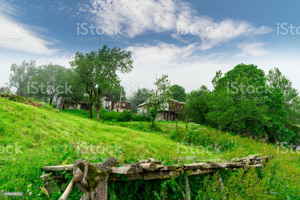 Summer Mountain Plateau Highland with Rize, Turkey stock photo