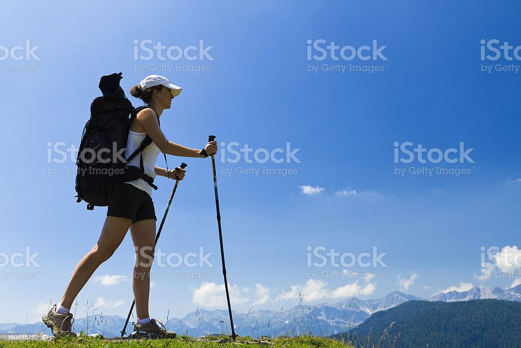 summer mountaineering royalty-free stock photo