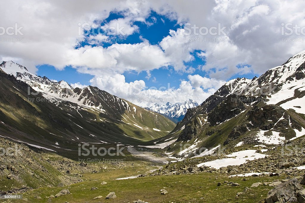 Summer mountains in Caucasus royalty-free stock photo