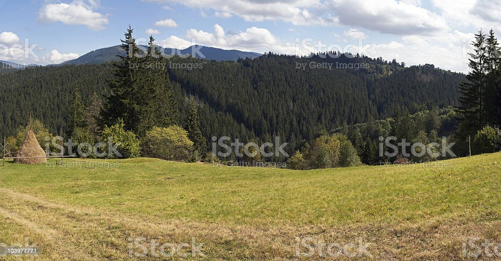 Summer mountains royalty-free stock photo