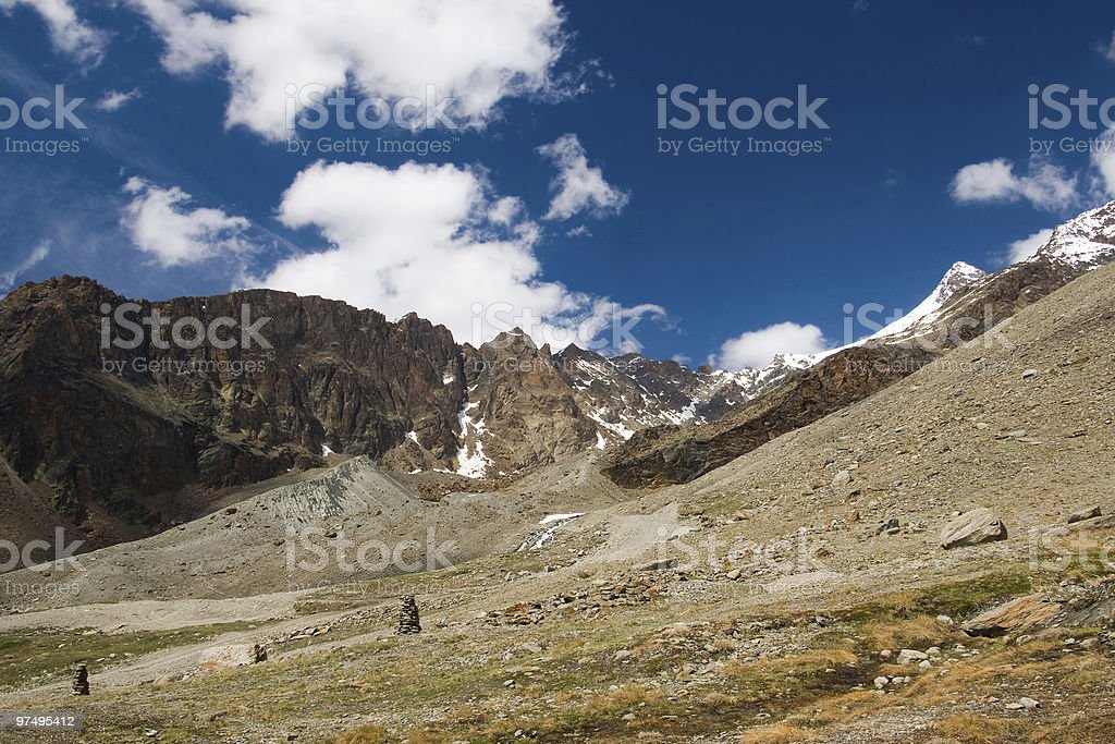 summer mountains with the Lagginhorn royalty-free stock photo