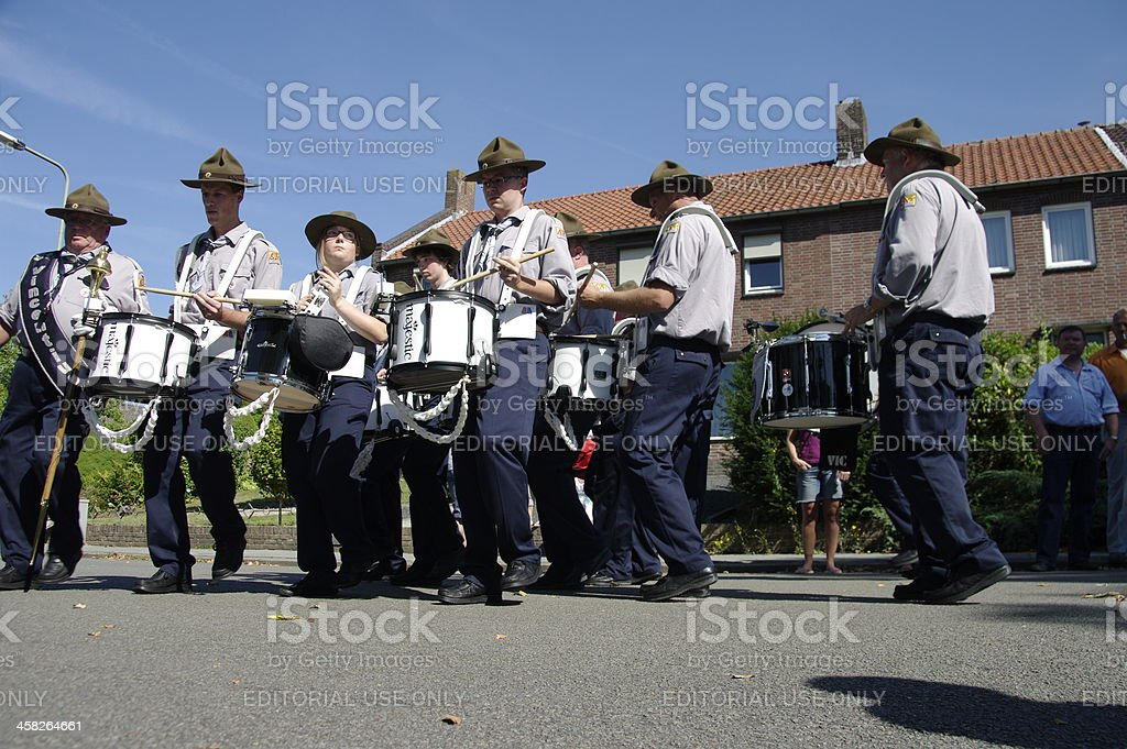Summer music parade in the city royalty-free stock photo