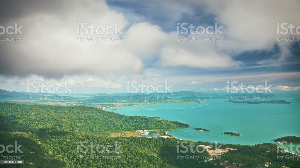 Summer nature landscape stock photo