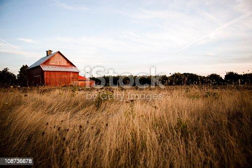 istock Summer night barn 108736678