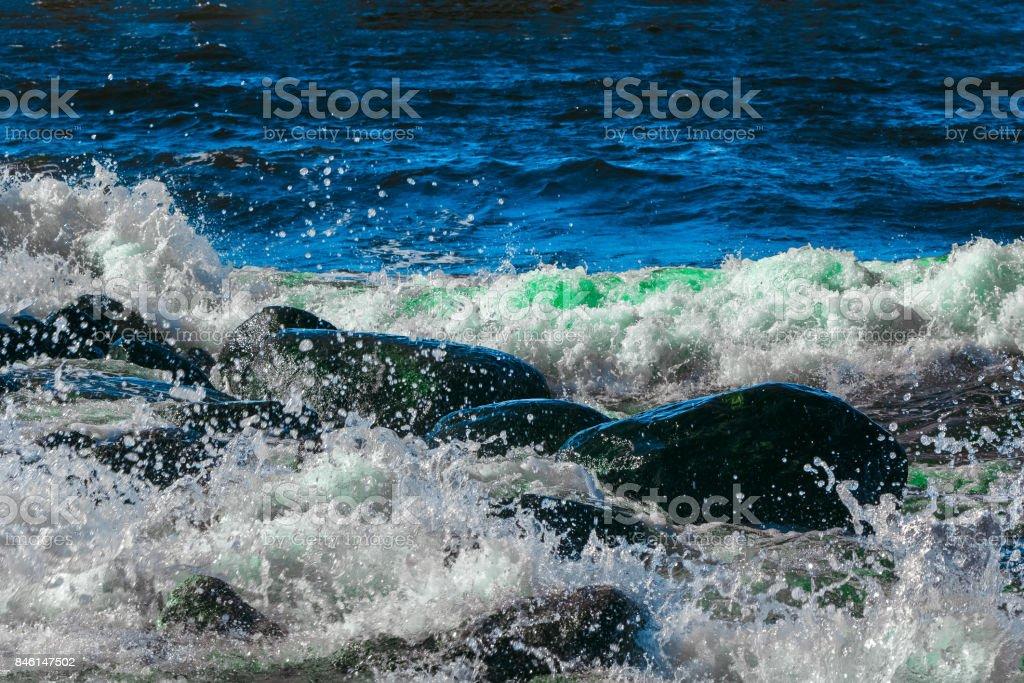 Summer ocean waves stock photo