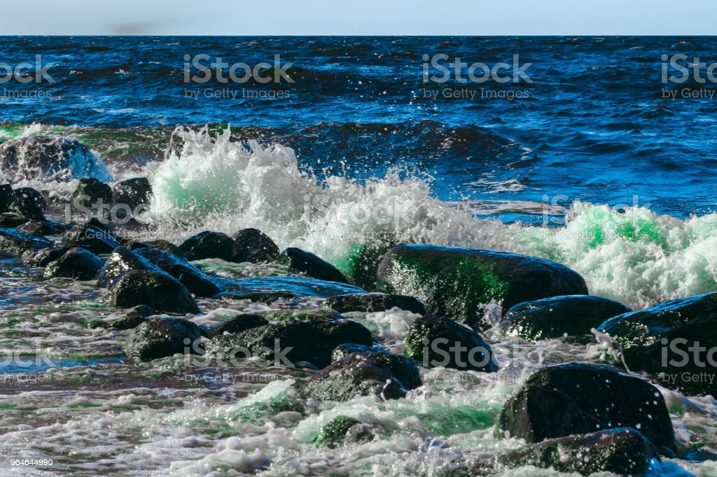 Summer ocean waves royalty-free stock photo