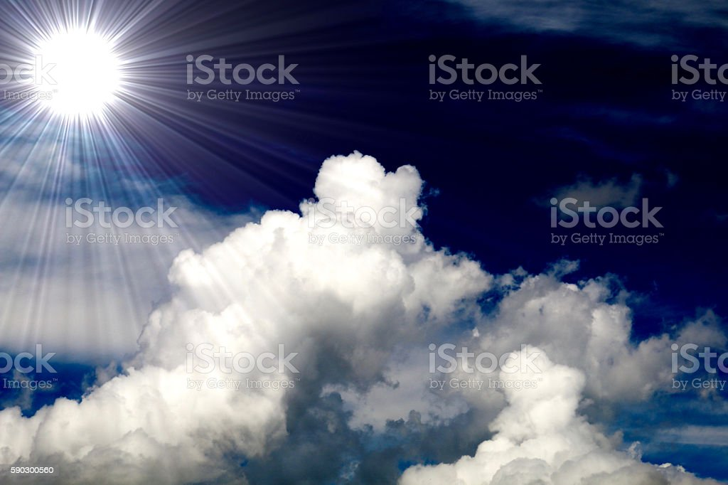 Summer of clouds and sun royaltyfri bildbanksbilder