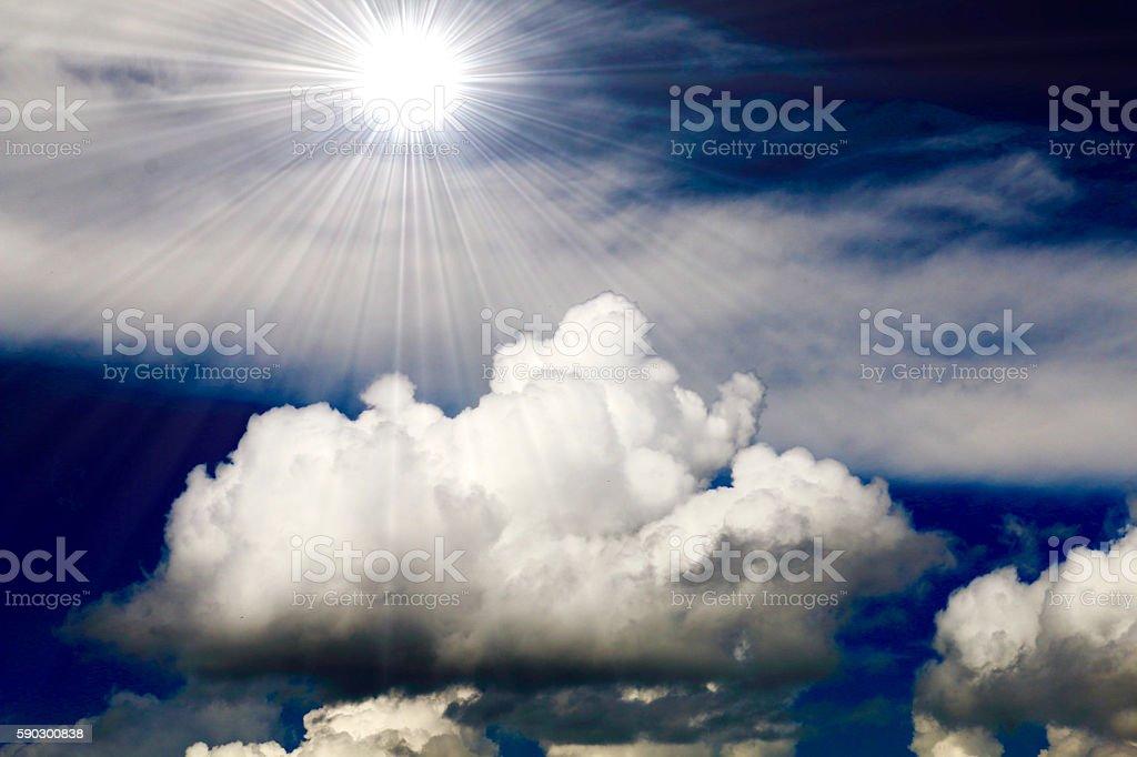 Summer of clouds and sun Стоковые фото Стоковая фотография