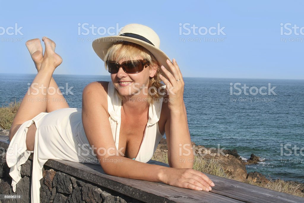 summer on shores of the ocean stock photo