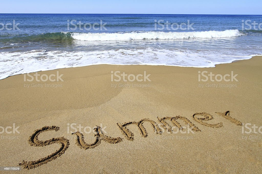 """""""Summer"""" on the beach royalty-free stock photo"""