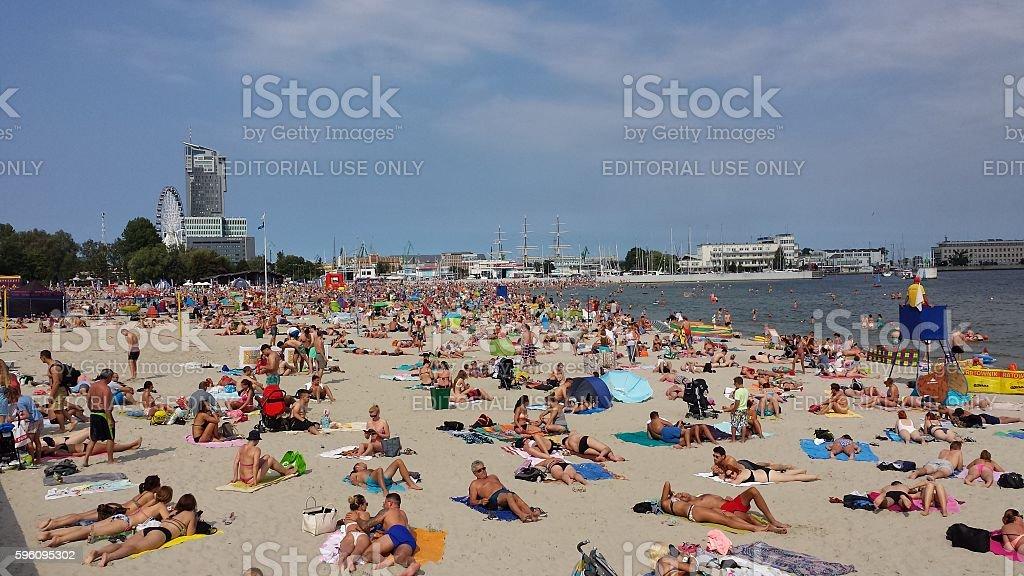 Sommer am Strand Lizenzfreies stock-foto