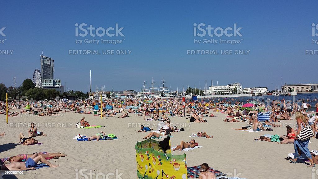 Summer on the beach royalty-free stock photo