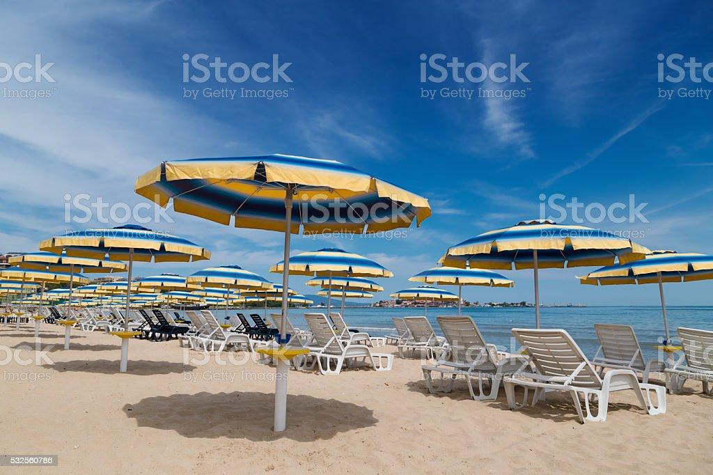 Summer on the bulgarian Black sea coast stock photo