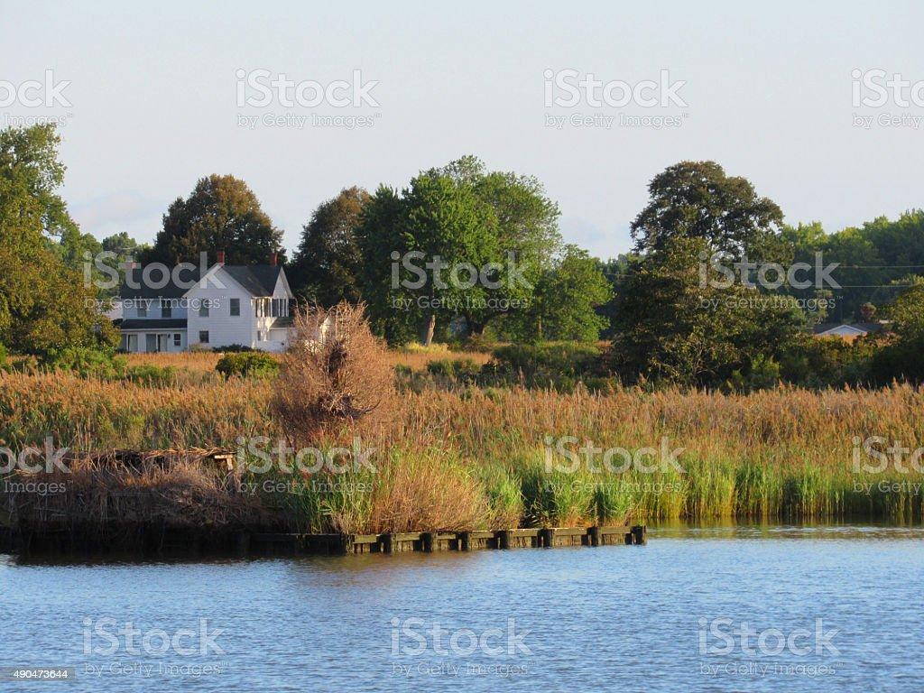 Summer on the Chesapeake Bay stock photo