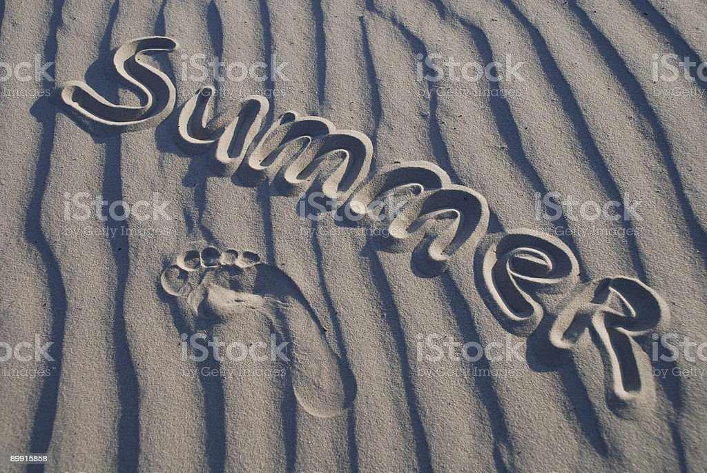 summer on the sand royalty free stockfoto