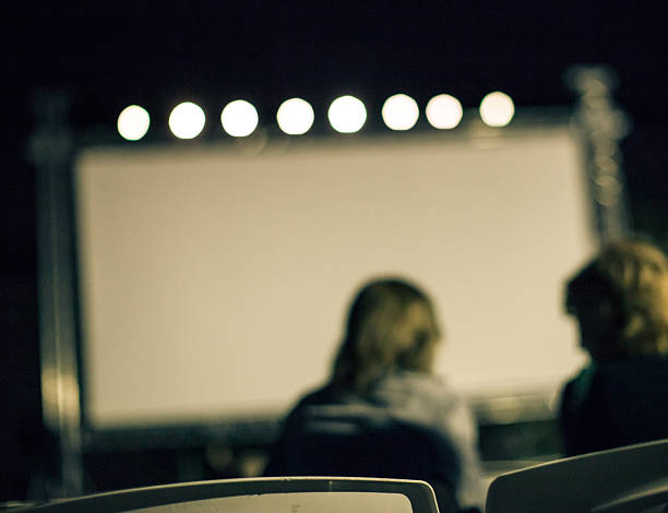 summer outdoor cinema - film festival stock photos and pictures