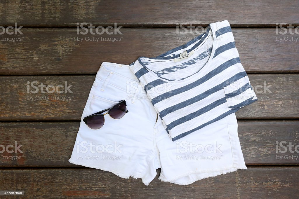 Summer outfit stock photo