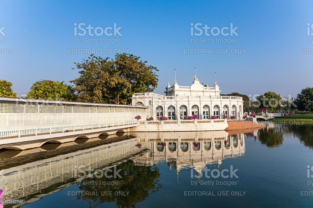Summer Palace Bang Pa-In at Ayutthaya stock photo