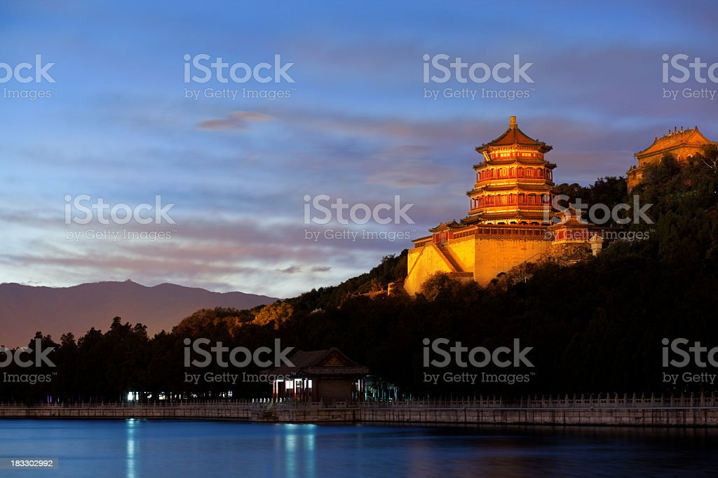 Summer Palace of Emporers in Beijing China royalty-free stock photo