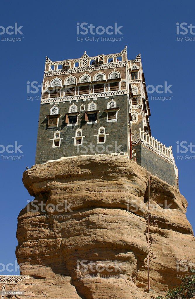 Summer Palace, Yemen stock photo