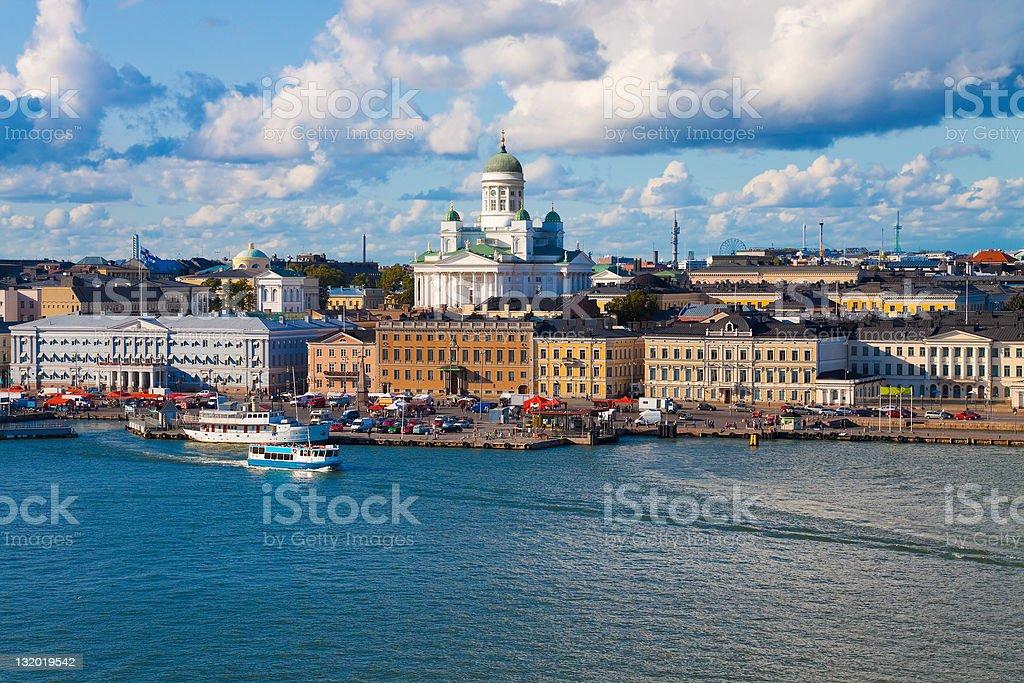 Summer panorama of Helsinki, Finland stock photo