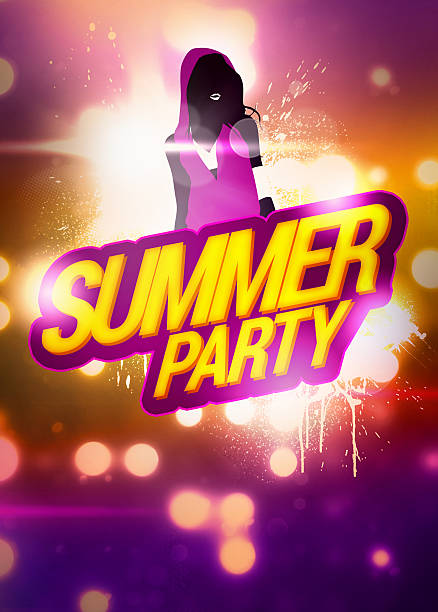 summer party background - hip hop poster bildbanksfoton och bilder
