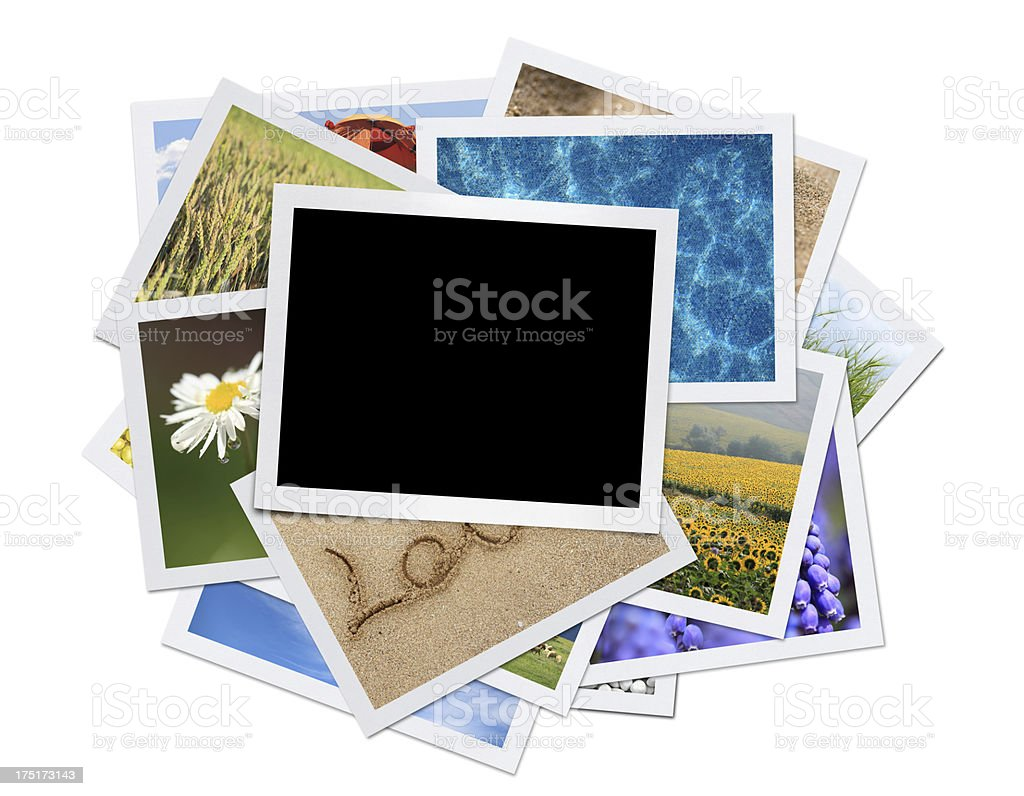 Summer Photos (Clipping Path) royalty-free stock photo