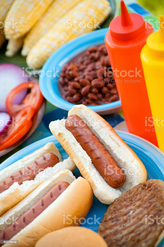 Summer Picnic Foods royalty-free stock photo