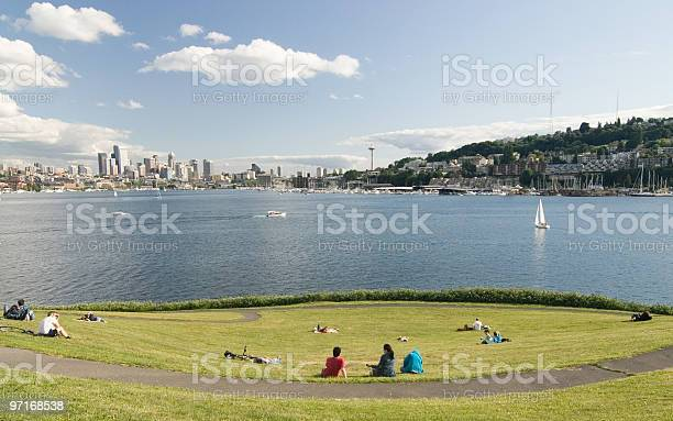 Photo of Summer picnic on Lake Union in Seattle