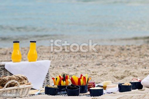 istock Summer picnic on the beach. 532869512