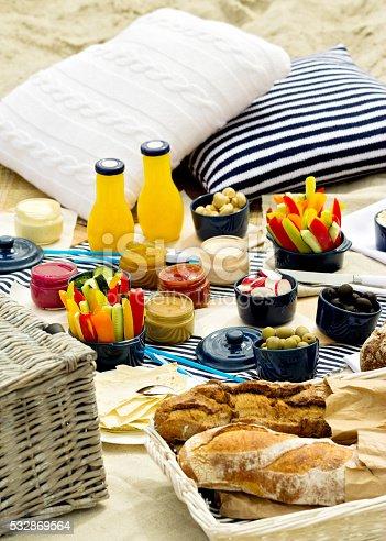 istock Summer picnic on the beach. 532869564