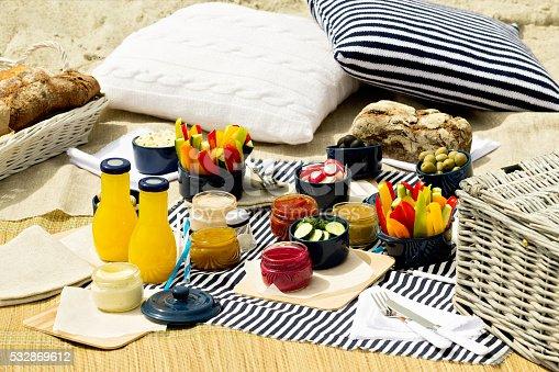 istock Summer picnic on the beach. 532869612