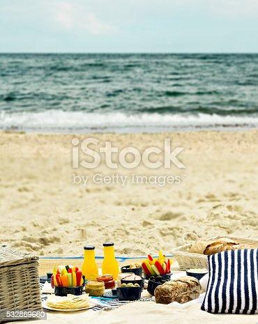 istock Summer picnic on the beach. 532869660