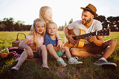 istock Summer picnic with parents 1022823592