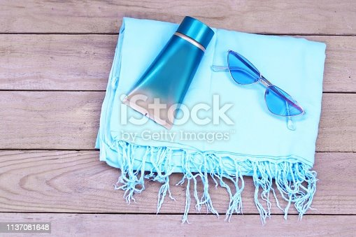 summer blue vacation sunglasses beach swimming pool pareo sunscreen solar protection summer days relaxation enjoyment pleasure