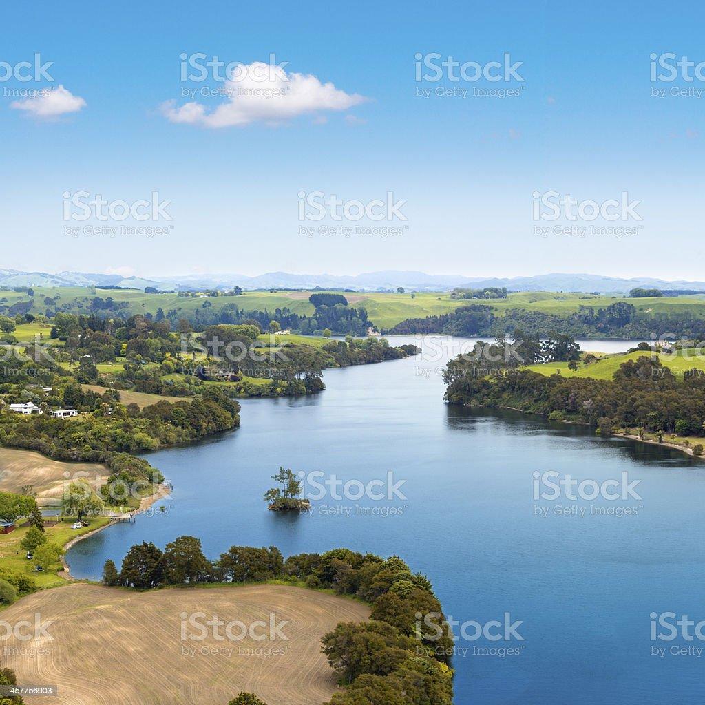 Summer picturesque landscape stock photo