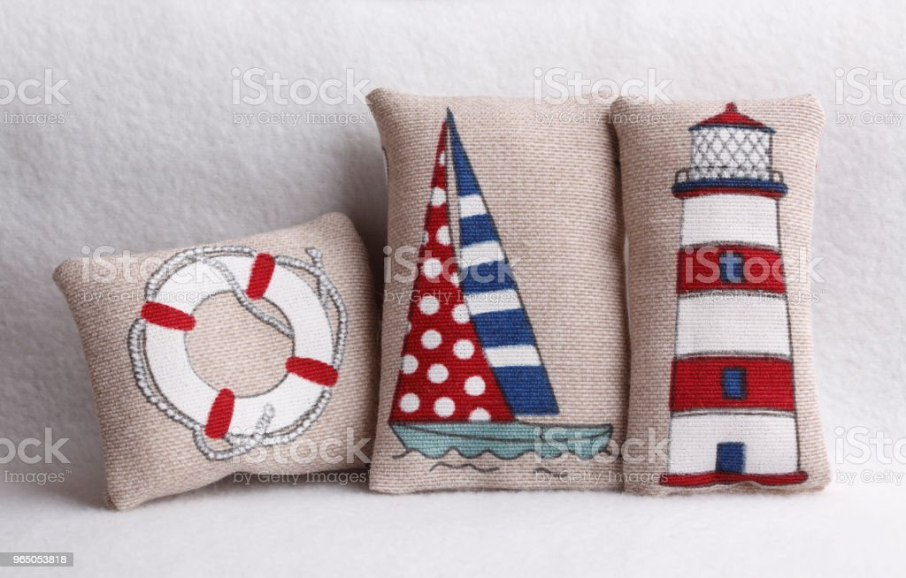 Summer pillows royalty-free stock photo