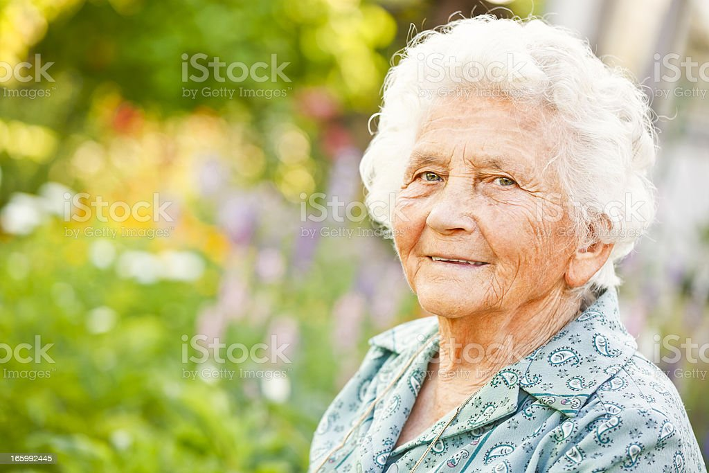 Summer portrait of a lovely grandma royalty-free stock photo