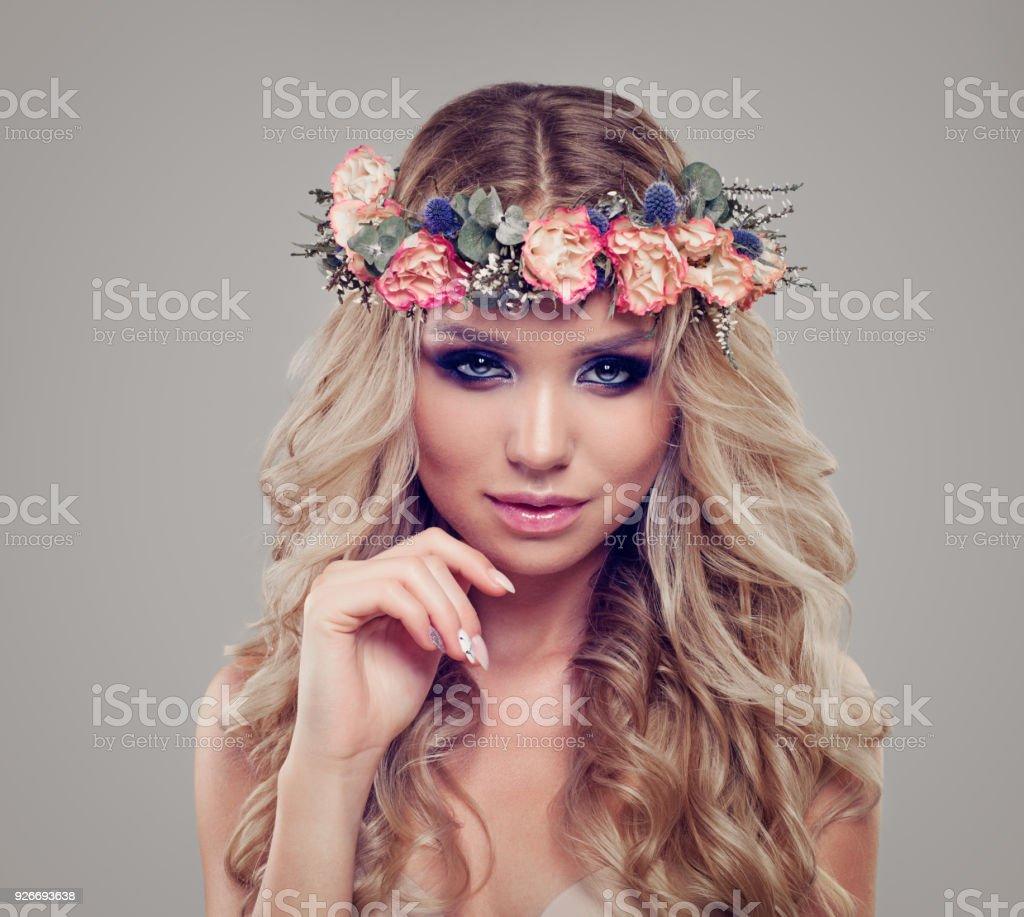 Summer Portrait Of Beautiful Woman Fashion Model Wearing
