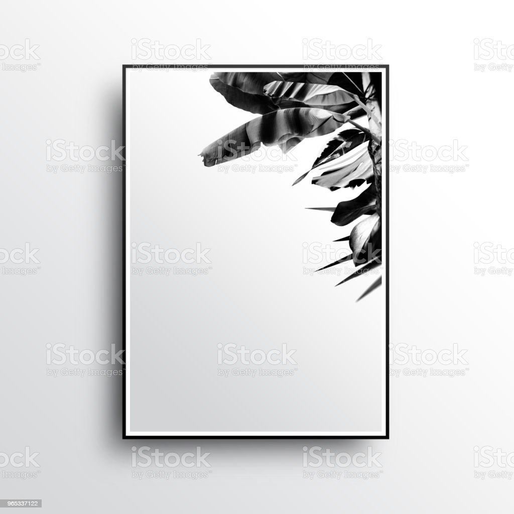 A Summer Poster of Luxury and Simple Picture Frames royalty-free stock photo