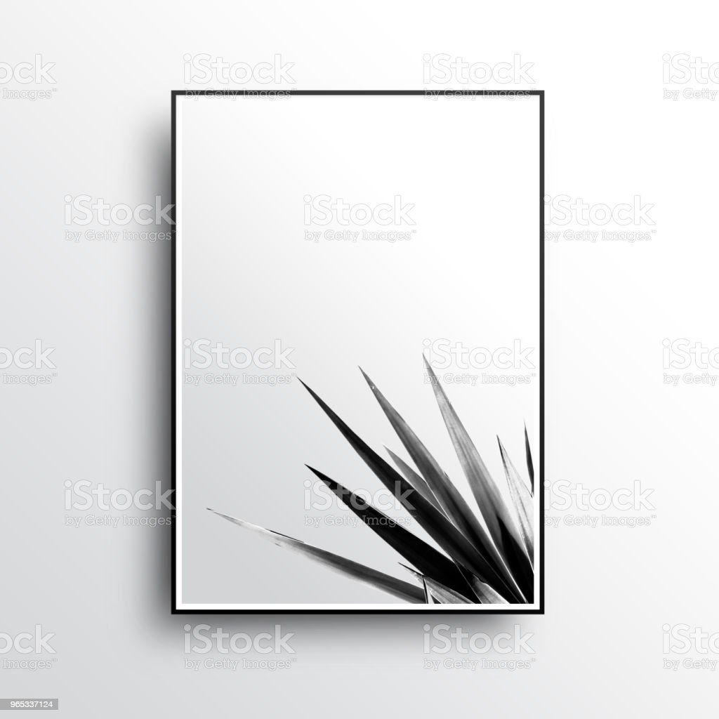 A Summer Poster of Luxury and Simple Picture Frames zbiór zdjęć royalty-free