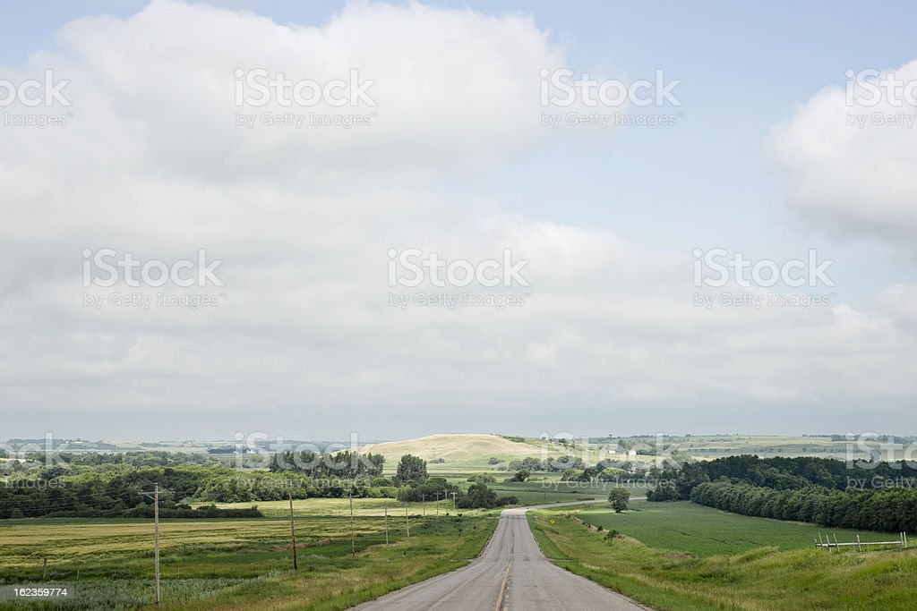 Summer Prairie Landscape royalty-free stock photo