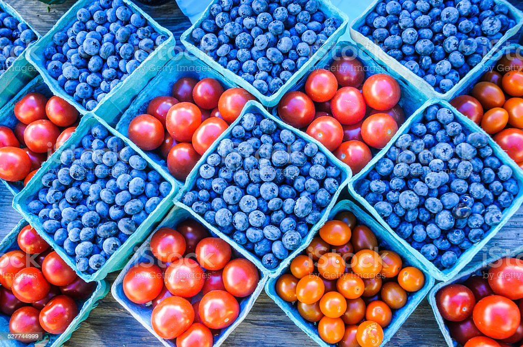 Summer Produce Colors stock photo